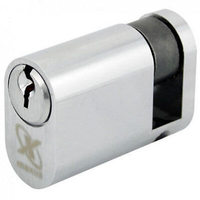 Maxus 6 Pin Oval Single Cylinder 40mm Nickel Plated