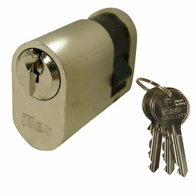 Iseo 5 Pin Oval Single Cylinder 40mm 30/10 Nickel Plated
