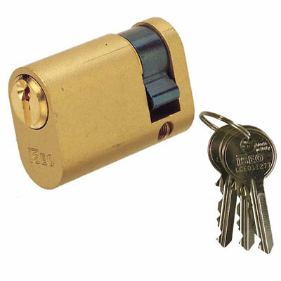 Iseo 5 Pin Oval Single Cylinder 40mm 30/10 Polished Brass
