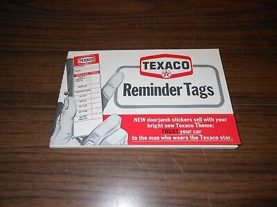 Vintage Texaco Oil Can Service Reminder Door Jamb Stickers Full Book.
