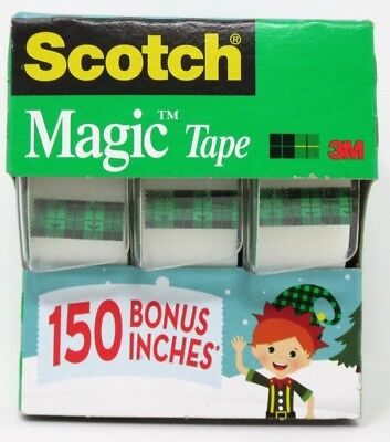 Scotch Magic Tape 3/4 Inch x 350 Inches Each Roll 1 Pack of 3 Rolls