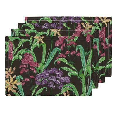 Cloth Placemats Floral Flower Wild Flowers Garden Nature Pretty Plant Set of 4