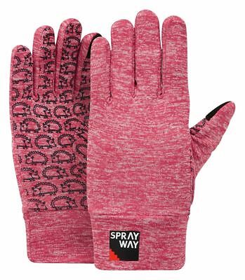 Sprayway Jnr Stretch Grip Glove Rose Pink Childrens Touch Screen Compatible