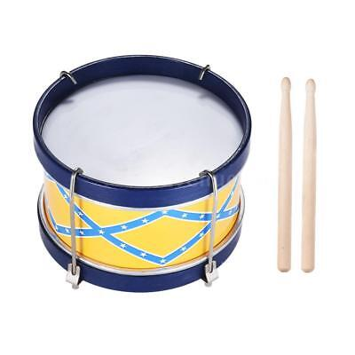 Colorful Snare Drum Toy Percussion Instrument with Drum  Strap K8O7