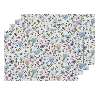 Cloth Placemats Garden Floral Flowers Pretty Flowery Garden Floral Set of 4