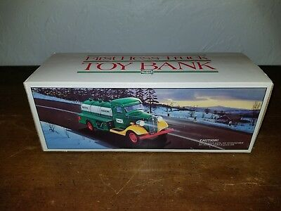 "First Hess Truck Toy ""BANK"" In Original Box & In Mint Condition."