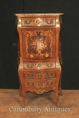 French Desk - Antique Escritoire Desk Chest 1900 Inlaid Empire