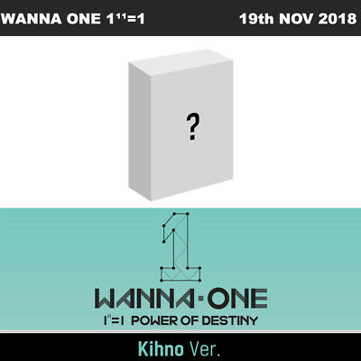 WANNA ONE 1¹¹=1 POWER OF DESTINY KIHNO Ver CD+PhotoCard+etc+Tracking Number