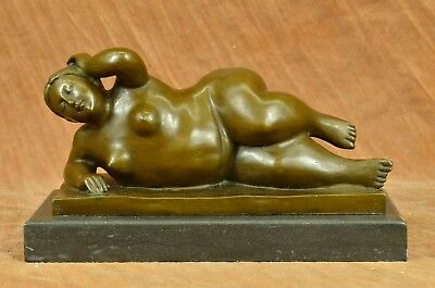 Handcrafted bronze sculpture SALE Marble Female Abstract Botero Famous Classic