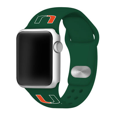 Miami Hurricanes Silicone Sport Band Compatible With The Apple Watch