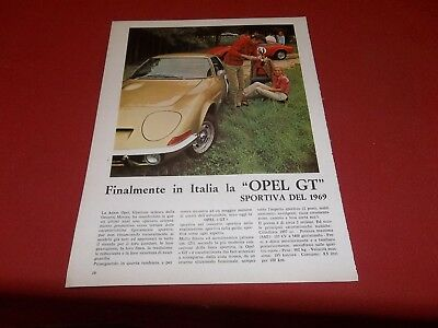 Pubblicita 1969 Werbung Advertising Auto Car Opel Gt Mercedes Benz  200 250