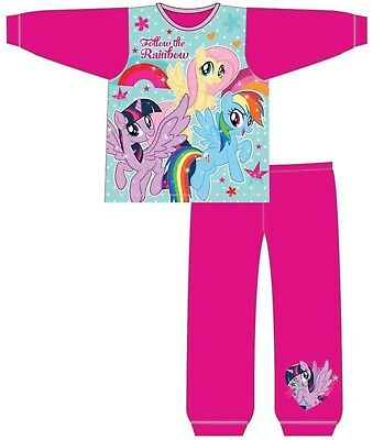 Baby Girls My Little Pony Kids Toddlers MLP Pyjamas Infants Pjs Gift 2 Piece Set
