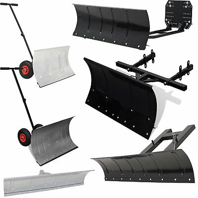 Snow Plough Blade for Snow Thrower/Forklift/ATV Manual Snow Shovel with Wheels