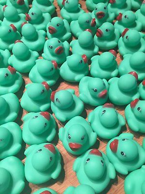 20 PC GREEN  Mini Rubber Duck Baby Shower Birthday Party Favors decor(A)