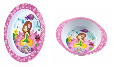 Nuby Flower Child Bowl and Plate Set 12 Months+