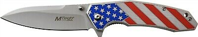Mtech MTA1024A Aluminum USA Flag Assisted Stainless Folding Pocket Knife