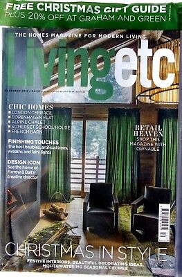 Living Etc Magazine December 2018 With Xmas Guide & 20% Off At Graham And Green