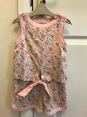 Next Girls Pink Ditsy Floral Playsuit Age 3 Years Excellent Condition