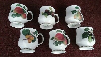 6 fine bone china cups from Royal horticultural society Queens collection...