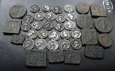 Later Indo-Greek Group Hoard Lot Bhadrayasha Apollophanes Zoilos Strato 37 Coins