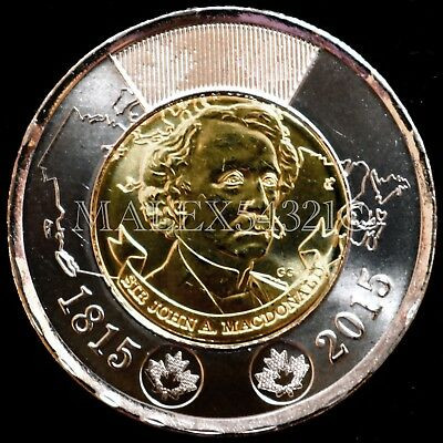 Canada (1815-) 2015 Two Dollar 'sir John A. Macdonald' Unc From Roll