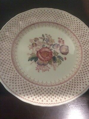 Franciscan Wall Plate With Brass Hanger - Ironstone, Floral Pattern Collectable