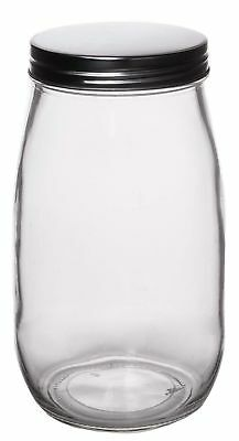 Kitchen Clear Glass Mason Jar, Food Storage Container with Lid, Large, 50 Oz