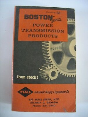 Vtg Boston Gear Catalog Power Transmission Products Book & Price Guide 1963 #58