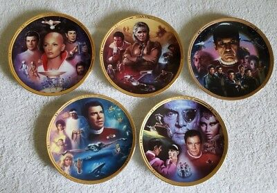 Star Trek: The Movies Hamilton Collection Plates, Set of 5, GREAT CONDITION!