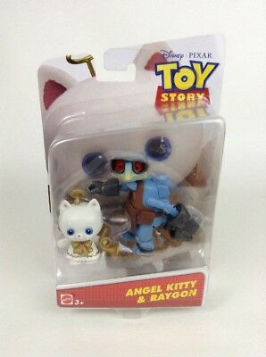 "Disney Pixar Toy Story Mattel Angel Kitty & Raygoon 4"" Figure Cat Set Sealed"