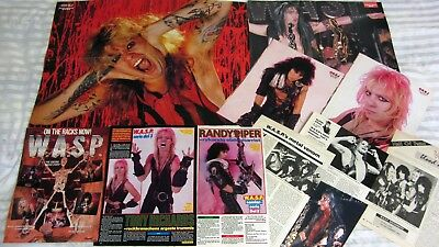 WASP poster (Blackie Lawless A-3+Chris Holmes A-2) +8 PinUP