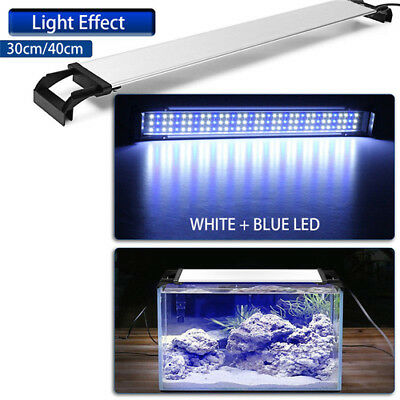 LED Aquarium Light Full Spectrum Freshwater Fish Tank Plant Marine Bule White