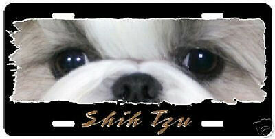 "Shih Tzu   "" The Eyes Have It ""  License Plate"