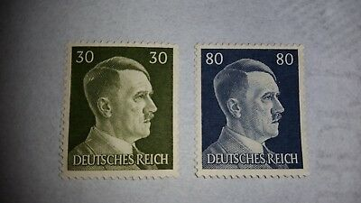 Stamp Germany WWII Deutsches Reich Adolf Hitler-mix of MNH and canceled
