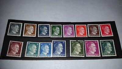 Stamp Germany WWII Deutsches Reich Adolf Hitler-MNH and canceled-29 total