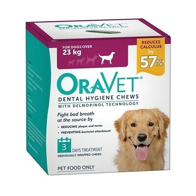 Oravet Plaque & Tartar Control Chews for Large Dogs over 23kg - 3-pack