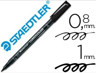 ROTULADOR PERMANENTE STAEDTLER M, PUNTA CONICA MEDIA TRAZO 0,4 MM NEGRO medio