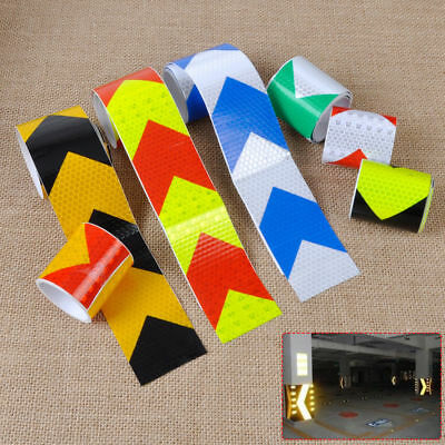 Night Reflective Safety Warning Conspicuity Tape Strip Arrow Sticker 5x300cm