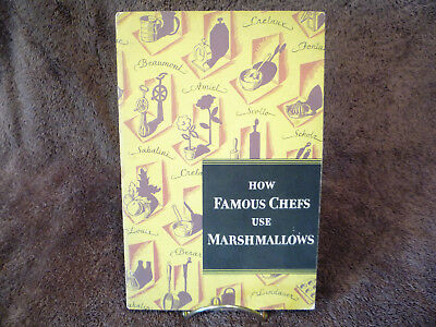 Vintage 1930 Campfire Marshmallows Famous Chefs' Recipes Cookbook & Letter