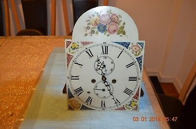 Antique Original GRANDFATHER CLOCK MOVEMENT working and serviced