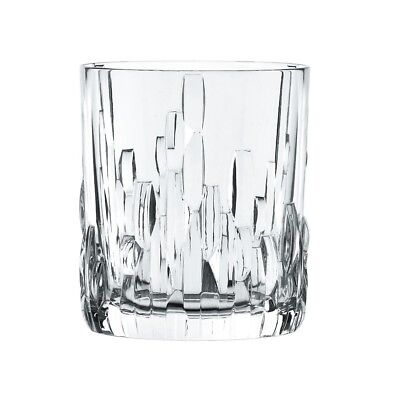 Bavarian Crystal Whiskey Tumbler Cup Set 11.6 oz Modern Glassware Mountain Rocks