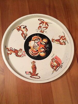 """Rare Vintage Tigger the Tiger Tray Large Tin Serving Plate 13"""" Collectible"""