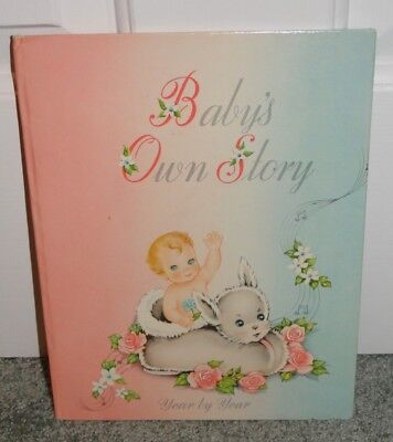 VINTAGE BABY BOOK: BABY'S OWN STORY YEAR BY YEAR, 1947 by Cecile Lamb