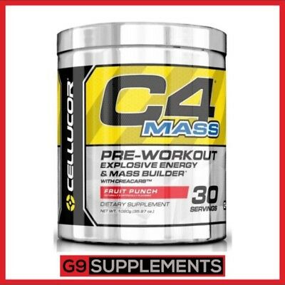 Cellucor C4 Mass Pre Workout - 30 Servings Strong Mass Gainer Powder Fruit Punch