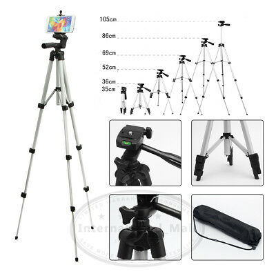 Portable Professional Adjustable Camera Tripod Stand Cell Phone Mount Holder USA