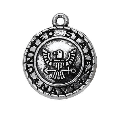 10pcs Vintage United States Navy Military Medallion Charm for DIY Jewelry Making