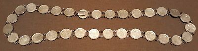 Vintage Silver 1882-1908 Canadian 5 Cent 31 Coins Grandma's Necklace
