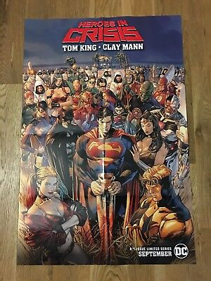 NYCC 2018 DC Comics Heroes In Crisis Poster Tom King Clay Mann , 24 In X 36 In