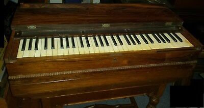 1846 Improved Melodian rosewood travelling organ by Prince #6485 vintage antique