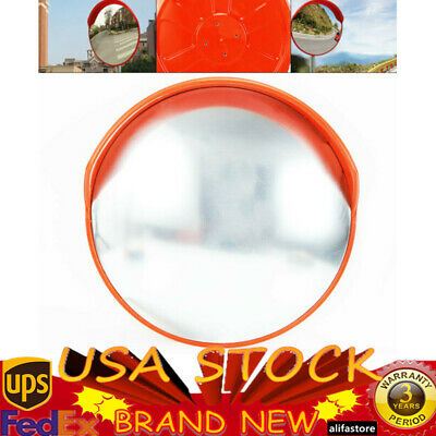 "18""24"" Wide Angle Security Convex PC Mirror Outdoor Road Traffic Driveway Safety"